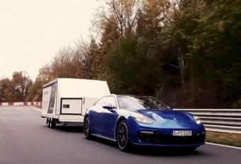 Tijdrecord voor Porsche Panamera ST met een (volle) aanhangwagen #1
