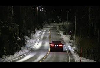 Route à éclairage dynamique en Norvège #1