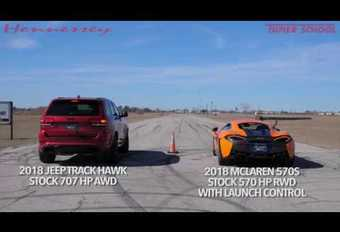 Dragrace: McLaren 570S vs Jeep Grand Cherokee Trackhawk #1