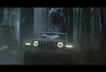 Jeep Wrangler à Jurassic Park contre un T-Rex #1