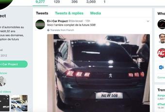 Peugeot: nieuwe 508 toont achterkant #1