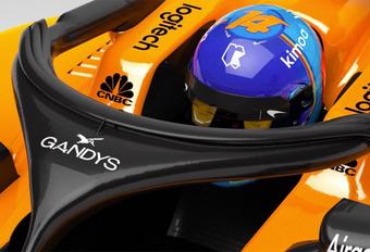 McLaren F1 zet teenslippers op de Halo #1