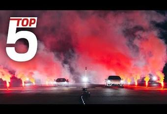 Race tussen de 5 snelste Porsches #1