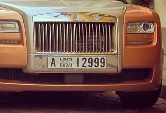 Dubai test intelligente nummerplaten #1