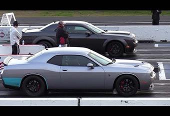 BIJZONDER – Dodge Challenger Demon en Hellcat op de dragstrip #1