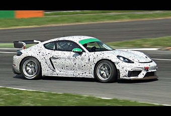 VIDEO – Porsche 718 Cayman GT4 Clubsport test op Monza #1