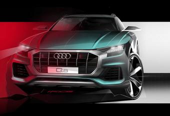 Audi Q8 : avant dévoilé en teasing #1