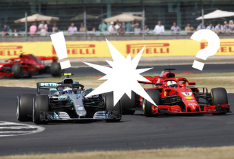 Hommeles tussen Mercedes en Ferrari na F1-race in Silverstone #1