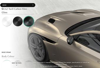 Car Configurator Aston Martin DBS Superleggera staat online #1