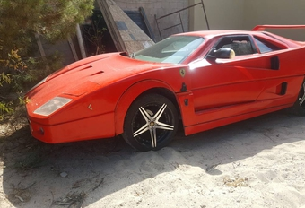 Weinig geslaagde Ferrari F40-replica #1
