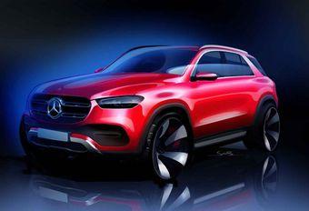 Mercedes : le nouveau GLE se dessine #1