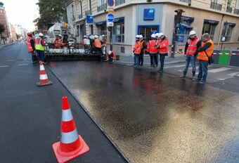 Asfalt zonder lawaai en hitte in Parijs #1