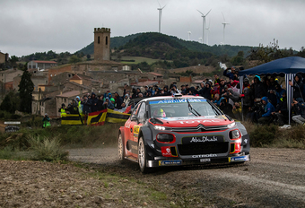 Loeb wint rally van Spanje, Neuville verliest WK-leiding aan Ogier #1