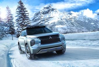 Mitsubishi Engelberg Tourer concept voelt zich thuis in sneeuw #1