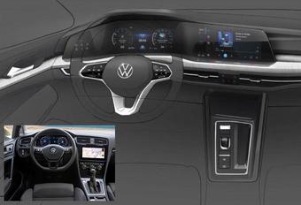 Nieuwe VW Golf toont zijn interieur #1