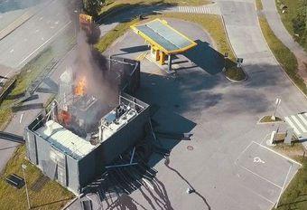 Explosie van een waterstofstation in Noorwegen #1
