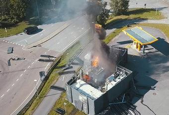 Ontploffing bij waterstofstation: eerste gegevens van het onderzoek #1