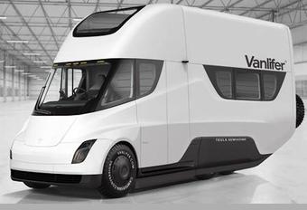 Vanlifer transformeert Tesla Semi in elektrische mobilhome #1