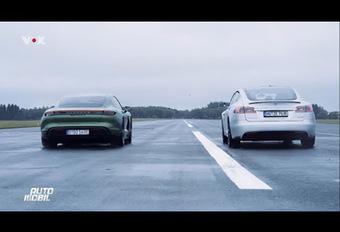 Porsche Taycan vs Tesla S P100D : qui est le plus rapide ? #1