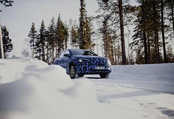 Mercedes EQA : GLA électrique en test hivernal #1