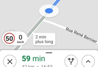 La bonne vitesse sur Google Maps #1