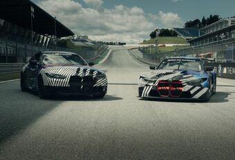 BMW M4 : encore camouflée #1