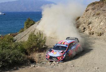 Thierry Neuville tweede in turbulente Rally van Turkije #1