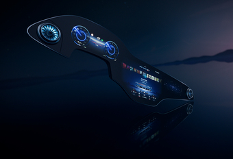 Dit is het gigascherm van de Mercedes EQS #1