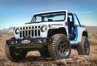 Jeep Magneto Concept : un Wrangler électrique à 6 vitesses #1