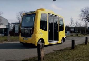 Autonome shuttle van Louvain-La-Neuve betrokken in ongeval #1