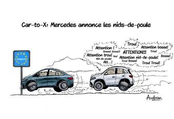 La story d'Audran - Mercedes annonce les nids-de-poule