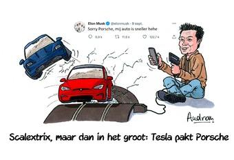 Audrans verhaal - Tesla verslaat Porsche op de Nürburgring
