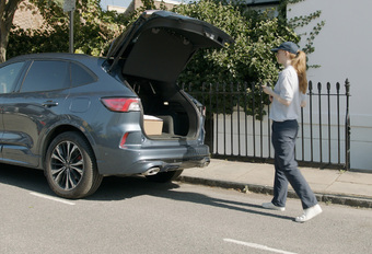 Ford Hermes secure delivery in car