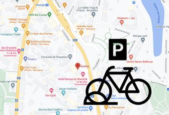 Brussels bikes brackets