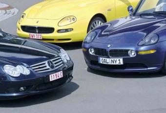 BMW Alpina Roadster V8, Maserati Spyder GT & Mercedes SL 55 AMG: Séquence émotion #1