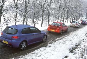 Alfa 147 GTA, Audi S3, Subaru Impreza WRX & Volkswagen Golf R32: Le son et l'image #1