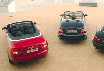 Audi A4 1.8 T Cabriolet, BMW 320Ci Cabrio & Mercedes CLK 200 K Cabriolet: Quadrupler le plaisir #1