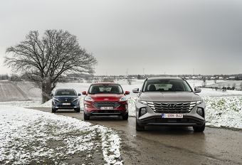 Hyundai Tucson vs. Ford Kuga en Peugeot 3008 #1