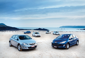 Ford Focus 1.6 TDCi 109, Opel Astra 1.7 CDTI 110, Peugeot 308 1.6 HDi 110, Renault Mégane 1.5 dCi 110, Toyota Auris 1.4 D-4D 90 & Volkswagen Golf 1.6 TDI 105 : Nouveau thème astral #1