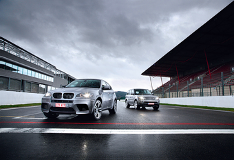 BMW X6 M & Range Rover Sport Supercharged : Séquence provocation #1