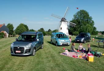 Citroën Berlingo 1.6 HDi 110, Fiat Doblo 1.6 MultiJet 110 & Renault Kangoo 1.5 dCi 105 : Gezinslievelingen #1