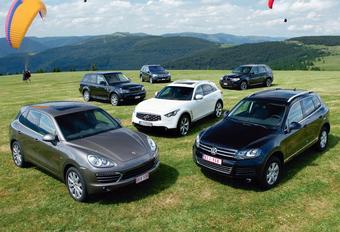 BMW X5 3.0d, Infiniti FX 30d, Mercedes ML 350 Bluetec, Porsche Cayenne Diesel, Range Rover Sport TDV6 & Volkswagen Touareg 3.0 TDI : SUV façon nouvelle cuisine #1