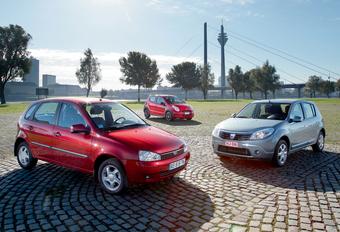 Lada Kalina 1119, Suzuki Alto, Dacia Sandero 1.2 : Centen tellen #1