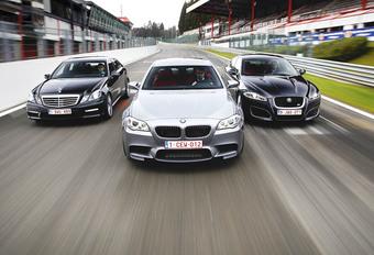 BMW M5, Jaguar XFR & Mercedes E 63 AMG : Gros calibres #1