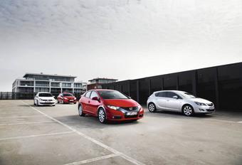 Ford Focus 2.0 TDCi 136, Honda Civic 2.2 i-DTEC 150, Opel Astra 1.7 CDTI 130 ecoFLEX en Volkswagen Golf 2.0 TDI 140 : Miskend alternatief #1