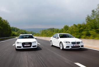 Audi A6 biturbo TDI vs BMW M550d #1