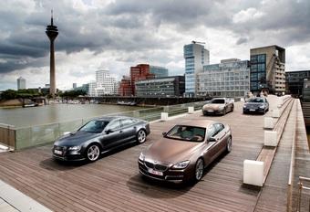 Audi A7 Sportback 3.0 TDI 313, BMW 640d GranCoupé, Mercedes CLS 350 CDI et Porsche Panamera Diesel : Le grand jeu #1