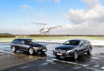 Jaguar XF 2.2 Td Sportbrake & Mercedes CLS 250 CDI Shooting Brake : Les vitrines du style #1