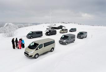 Citroën Jumper 2.0 HDi 125, Ford Tourneo Custom 2.2 TDCi 155, Hyundai H1 People 2.5 CRDi 136, Mercedes Viano 2.0 CDI, Opel Vivaro Tour 2.0 CDTI ecoFlex 115, Renault Trafic 2.0 dCi 115 en Volkswagen Multivan 2.0 TDI 136 #1