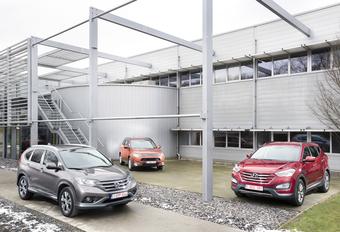 Honda CR-V, Hyundai Santa Fe et Mitsubishi Outlander : Bagarre à l'Asiatique  #1